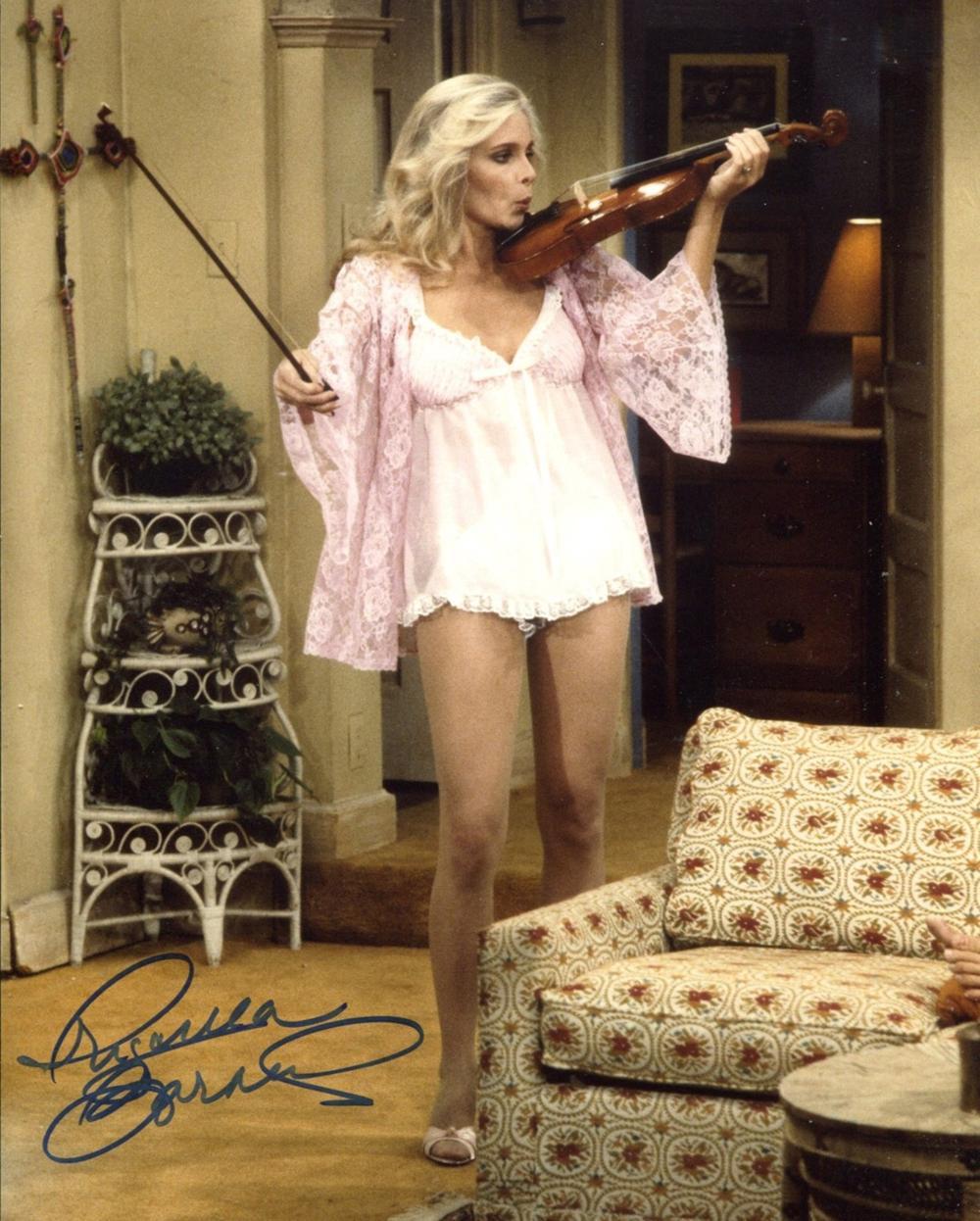 Three's Company comedy series actress Priscilla Barnes signed 8x10 photo. Good condition. All