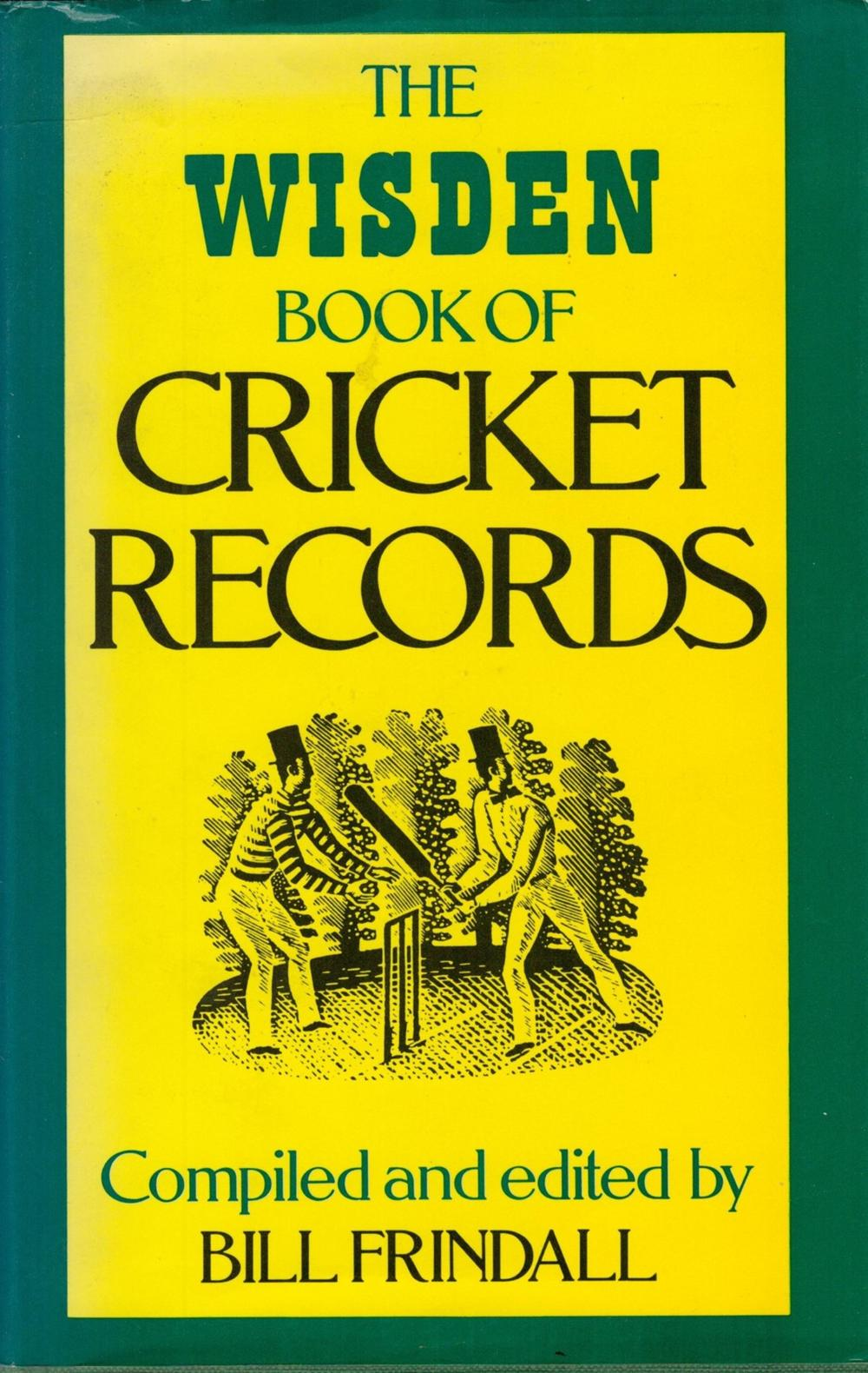 Cricket, The Wisden Book of Cricket Records compiled and edited by Bill Frindall Published in
