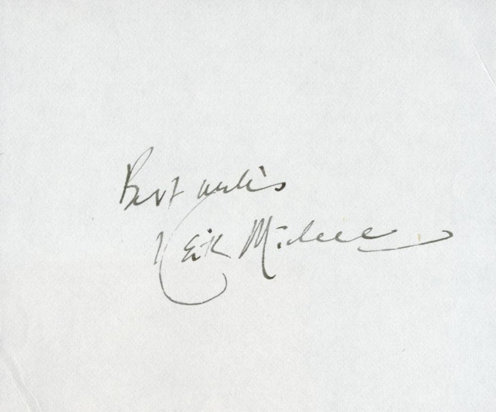 Golf, Keith Mitchell signed and dedicated 4x4 white page inscribed best wishes Mitchell (born