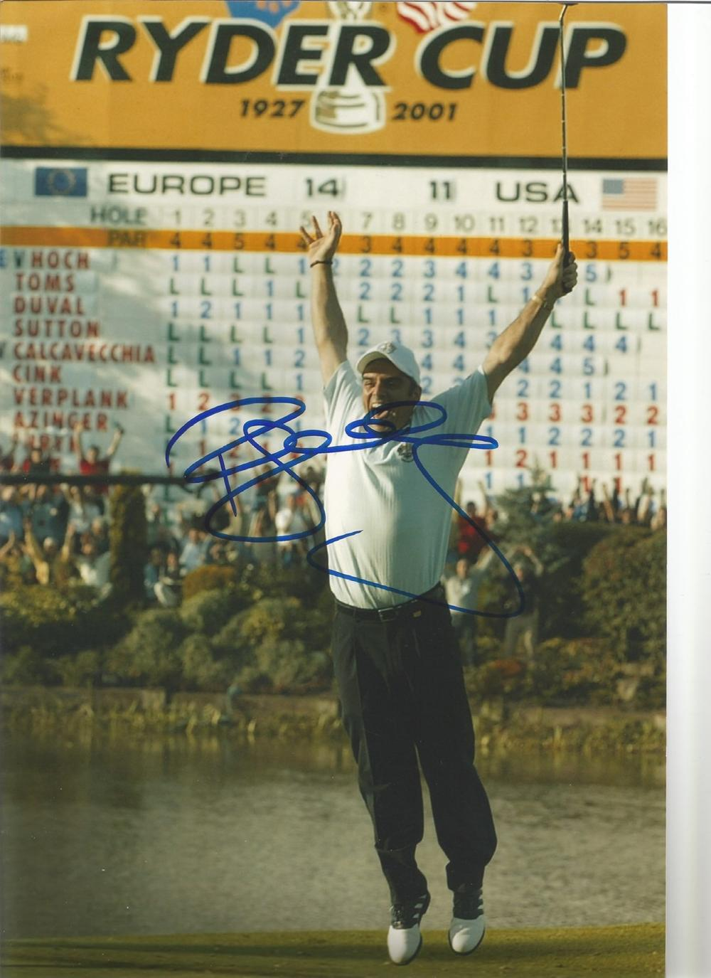 Paul McGinley Signed Ryder Cup Golf 8x12 Photo. Good condition. All autographs come with a
