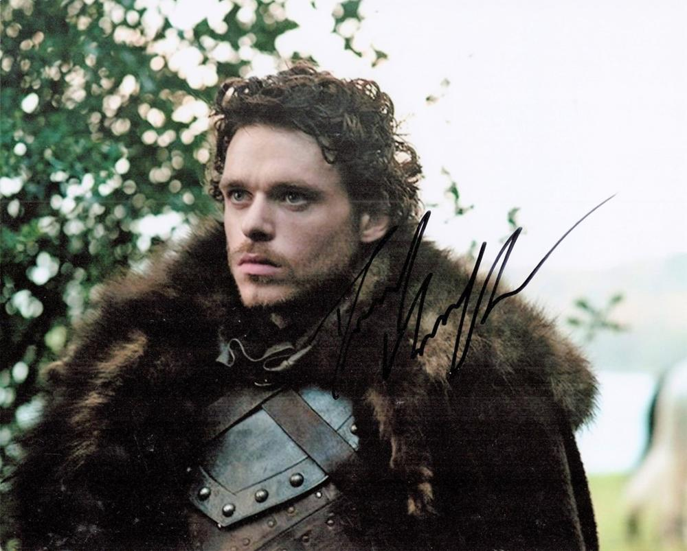 Game Of Thrones, Richard Madden signed 10x8 colour photograph In 2011, his breakthrough role as Jon