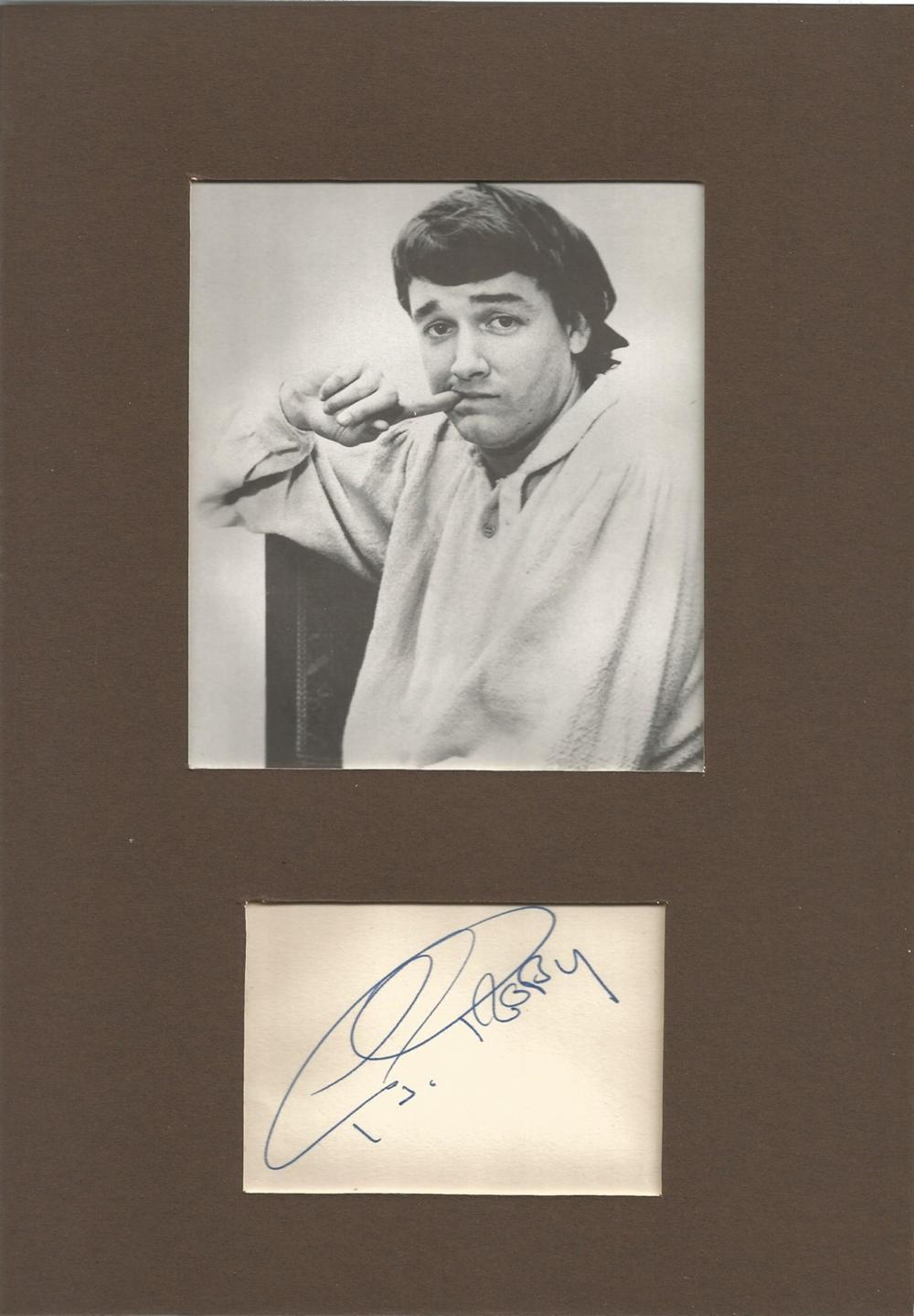 Singer P J Proby singed card mounted with 6x4 black and white image P J Proby is an American singer,