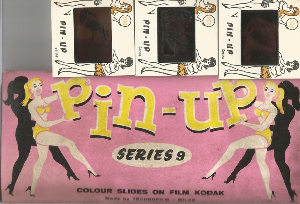 1950's set of 12 colour slides of female pin ups. Good condition. All autographs come with a