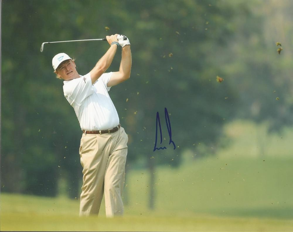 Ernie Els signed 10x8 colour golf photo. Good condition. All autographs come with a Certificate of