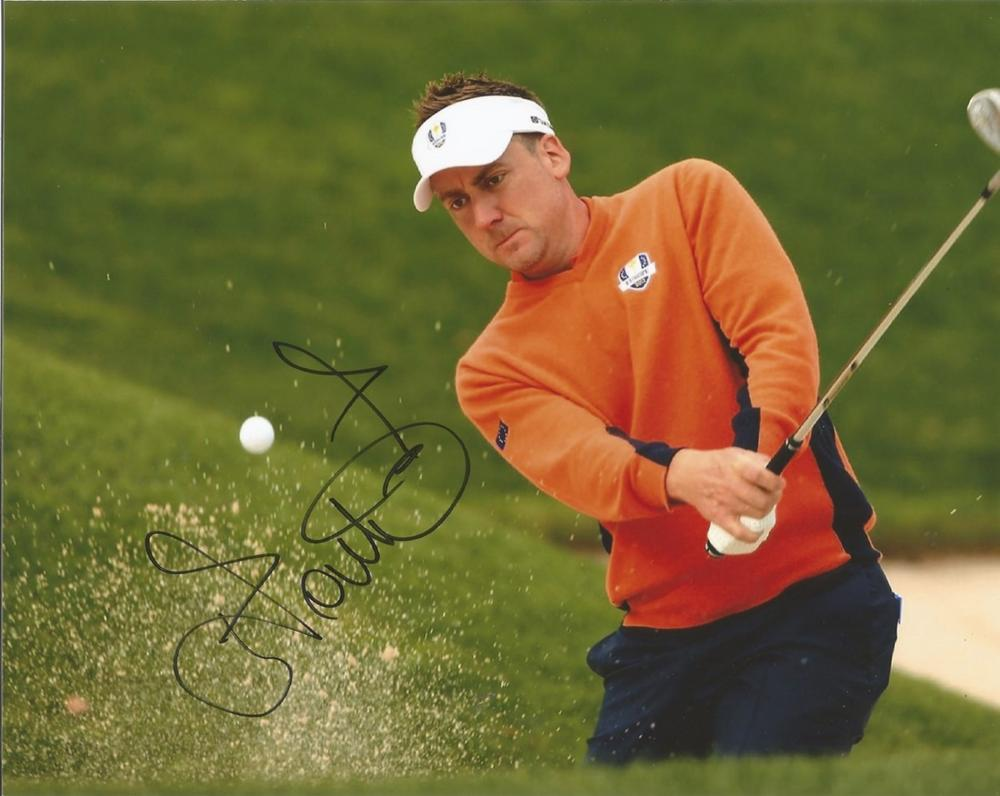 Ian Poulter signed 10x8 colour action golf photo. Good condition. All autographs come with a