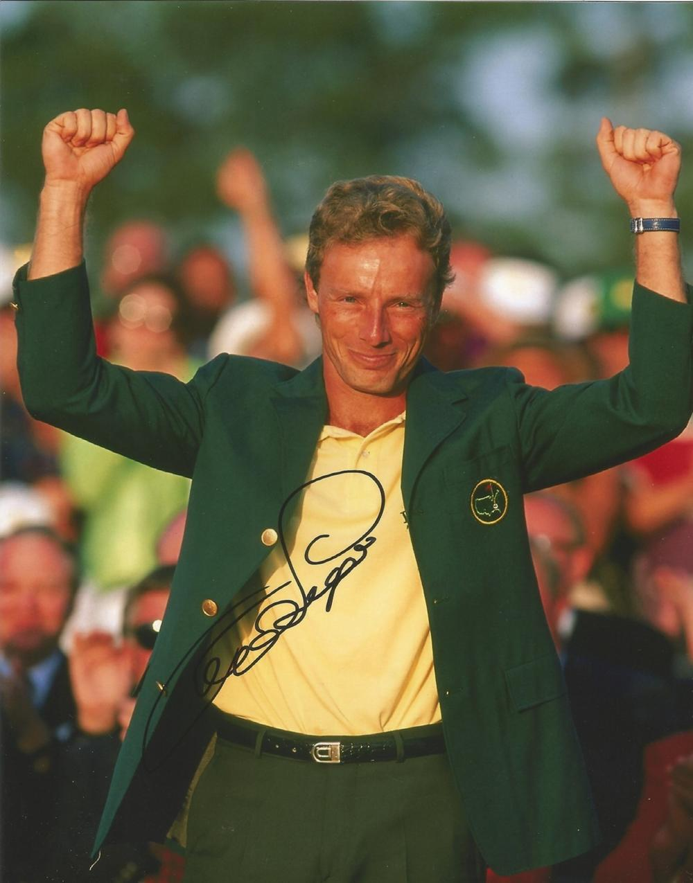 Bernhard Langer signed 10x8 colour golf photo. Good condition. All autographs come with a