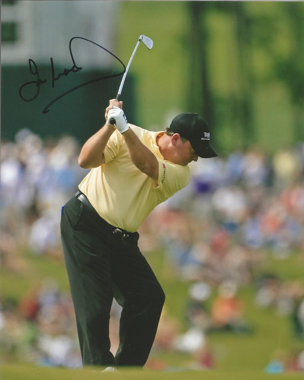 Ian Woosnam signed 10x8 colour golf action photo. Good condition. All autographs come with a
