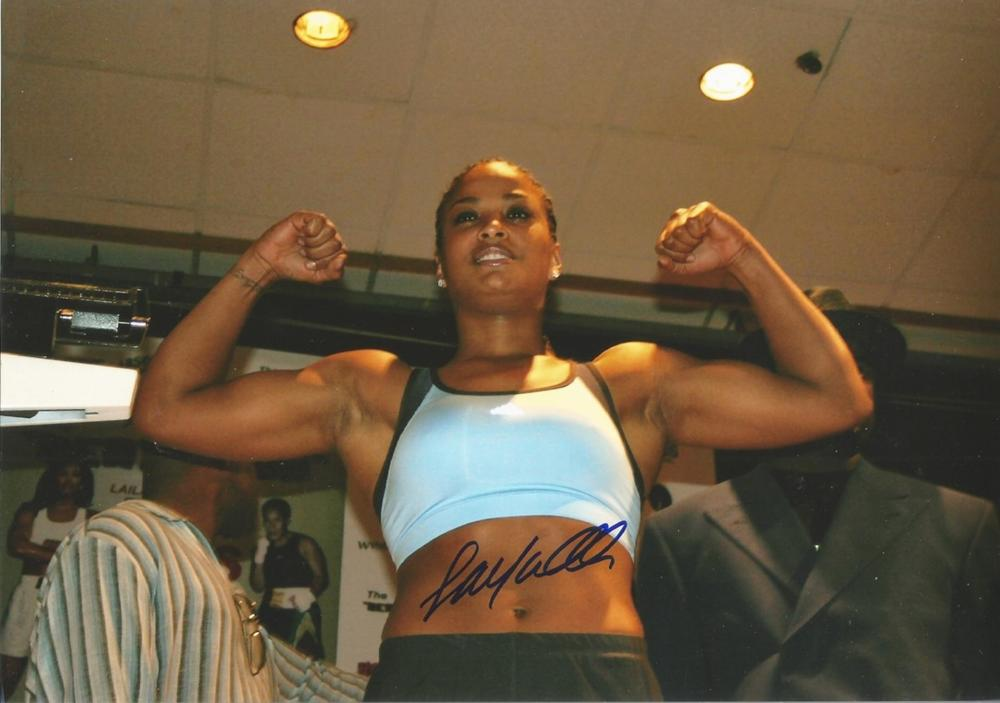 Laila Ali signed 12x8 colour photo American television personality and retired professional boxer
