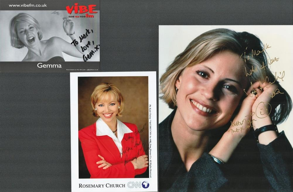Entertainment Collection of Presenters and News Readers including: Lucy Alexander presenter coloured