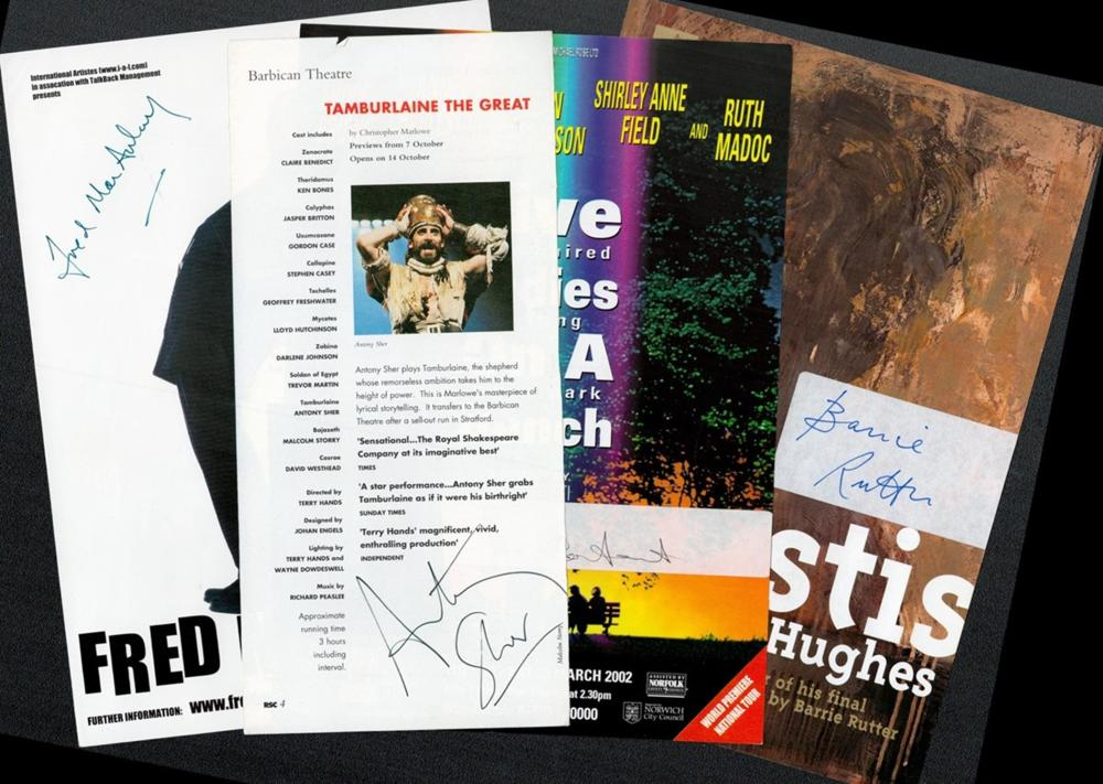 Collection of Theatre Signed Flyers Michael Maloney Hamlet by William Shakespeare flyer signed by