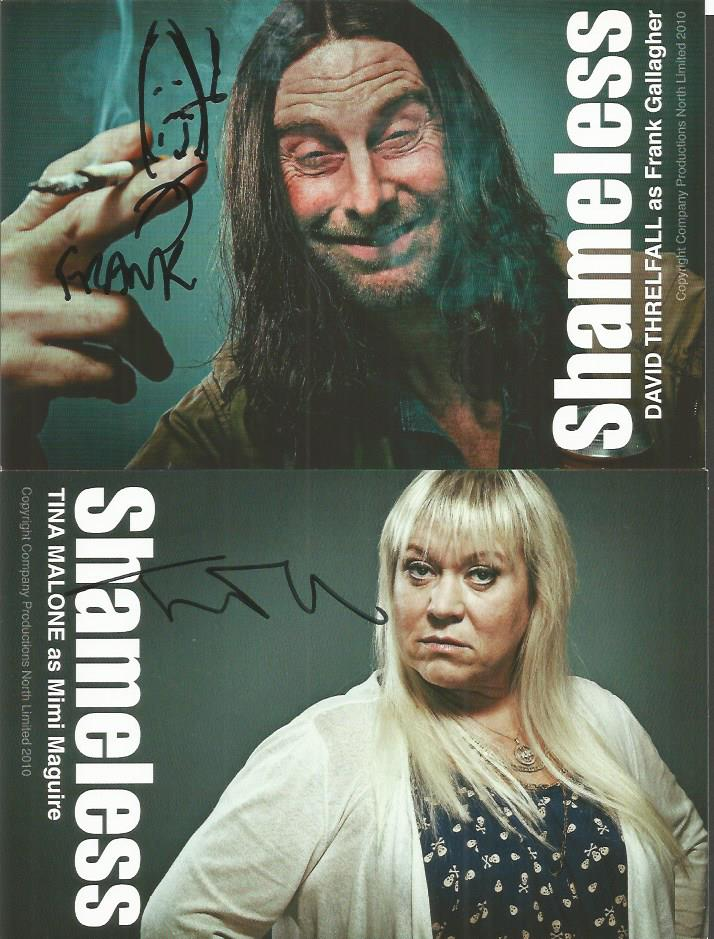 Shameless signed photocard collection  Mainly 8 x 6 inch  In