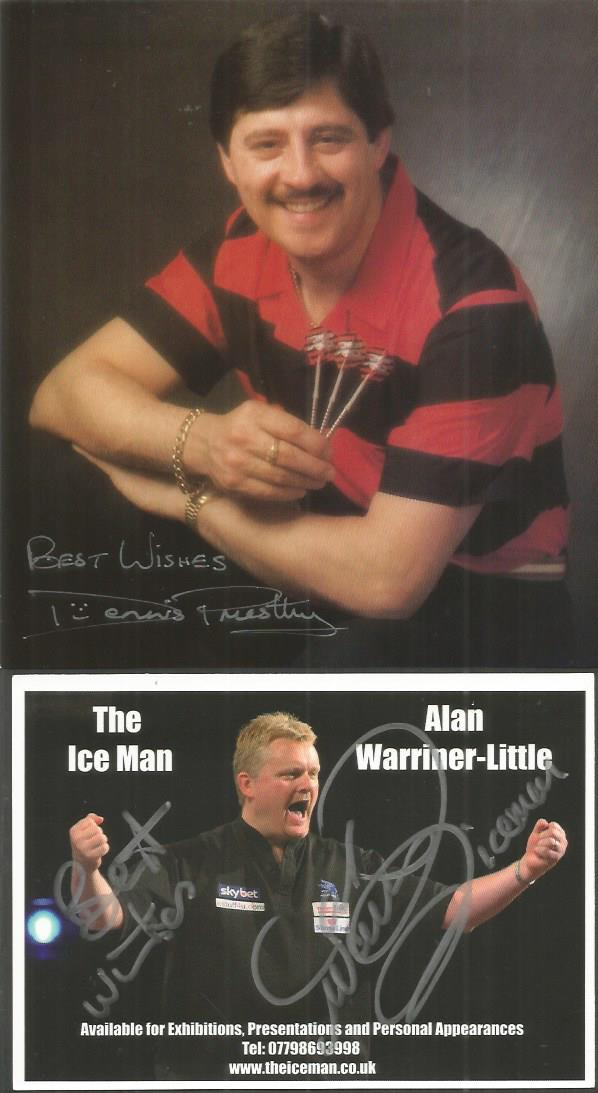 Darts Signed Collection 8 Mixed Sized Signatures Include Bo