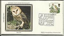 Benham Small Silk 1986 First Day Cover sets