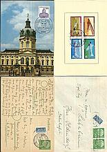 German Postal History small black album dozen