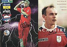 Lancashire Cricket programmes signed by Peter