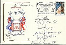George Cross, Victoria Cross multi signed 1990