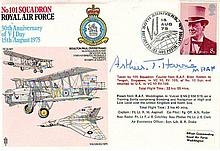 Arthur Bomber Harris signed 101 Sqn, 30th Ann V-J