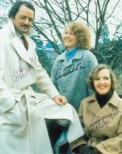 To The Manor Born cast signed 10x8 colour photo. C