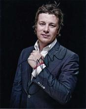 Jamie Oliver signed 10 x 8 colour photo. Nice port