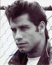 John Travolta signed 10 x 8 black and white photo.