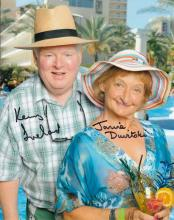 Kenny Ireland and Janine Duvitski signed 10 x 8 co