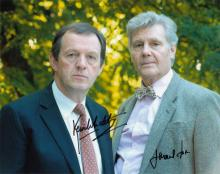 James Fox and Kevin Whately signed 10 x 8 colour p