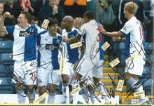 Blackburn Rovers FC team signed photo. High qualit