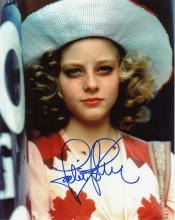 Jodie Foster signed 10 x 8 colour photo. Unusual p