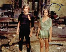 Michael York and Jenny Agutter signed 10 x 8 colou