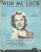 Gracie Fields Scarce 24cm x 31cm sheet music for