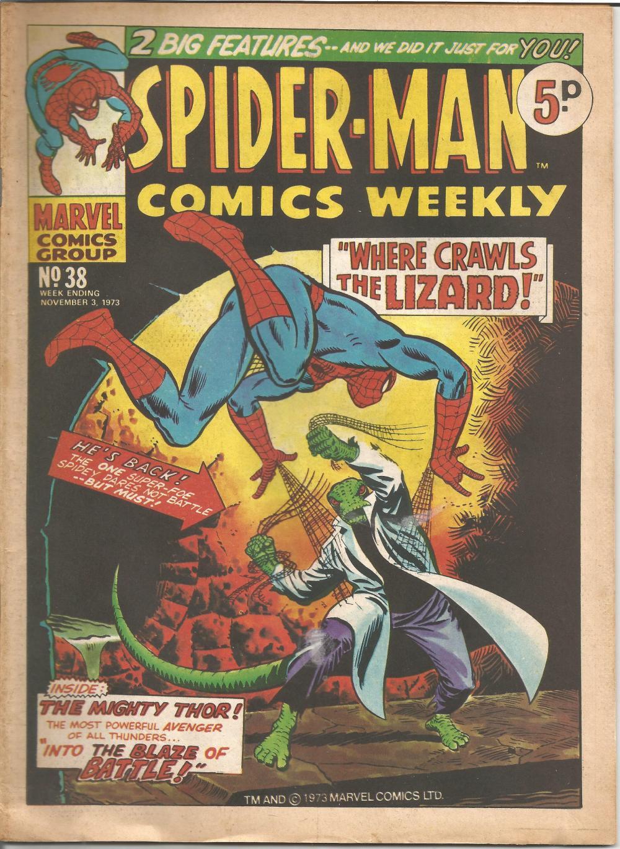 Marvel comic Spider Man comics weekly No38 week ending Novem