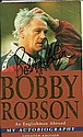 Bobby Robson signed piece cut from his