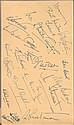 Cricket Autographs large Autograph album page