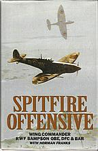 Spitfire Offensive signed book by Wg Cdr Sampson.