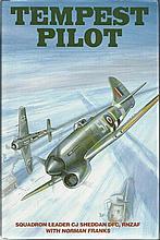 Tempest Pilot signed book by Sqdn Ldr CJ Sheddan