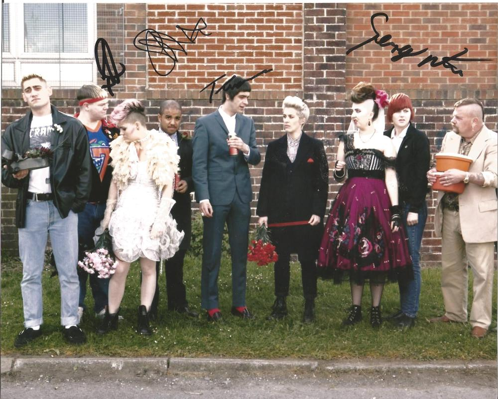 This Is England multi signed 10x8 photo. This beautiful hand-signed photo depicts the cast from