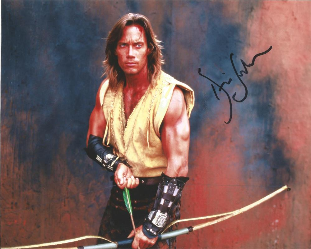 Kevin Sorbo Hercules hand signed 10x8 photo. This beautiful hand signed photo depicts Kevin Sorbo