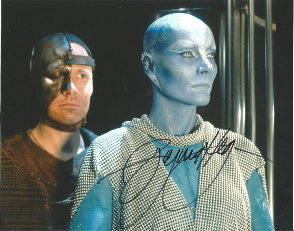 Virginia Hey Farscape hand signed 10x8 photo. This beautiful hand-signed photo depicts Virginia