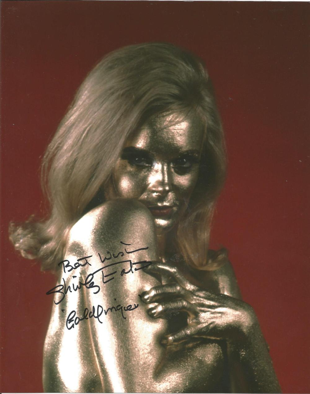 Shirley Eaton 007 Goldfinger hand signed 10x8 photo. This beautiful hand-signed photo depicts