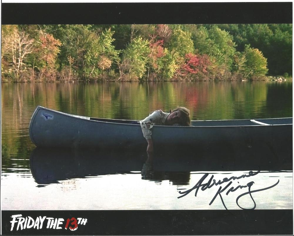 Adrienne King Friday 13th hand signed 10x8 photo. This beautiful hand-signed photo depicts