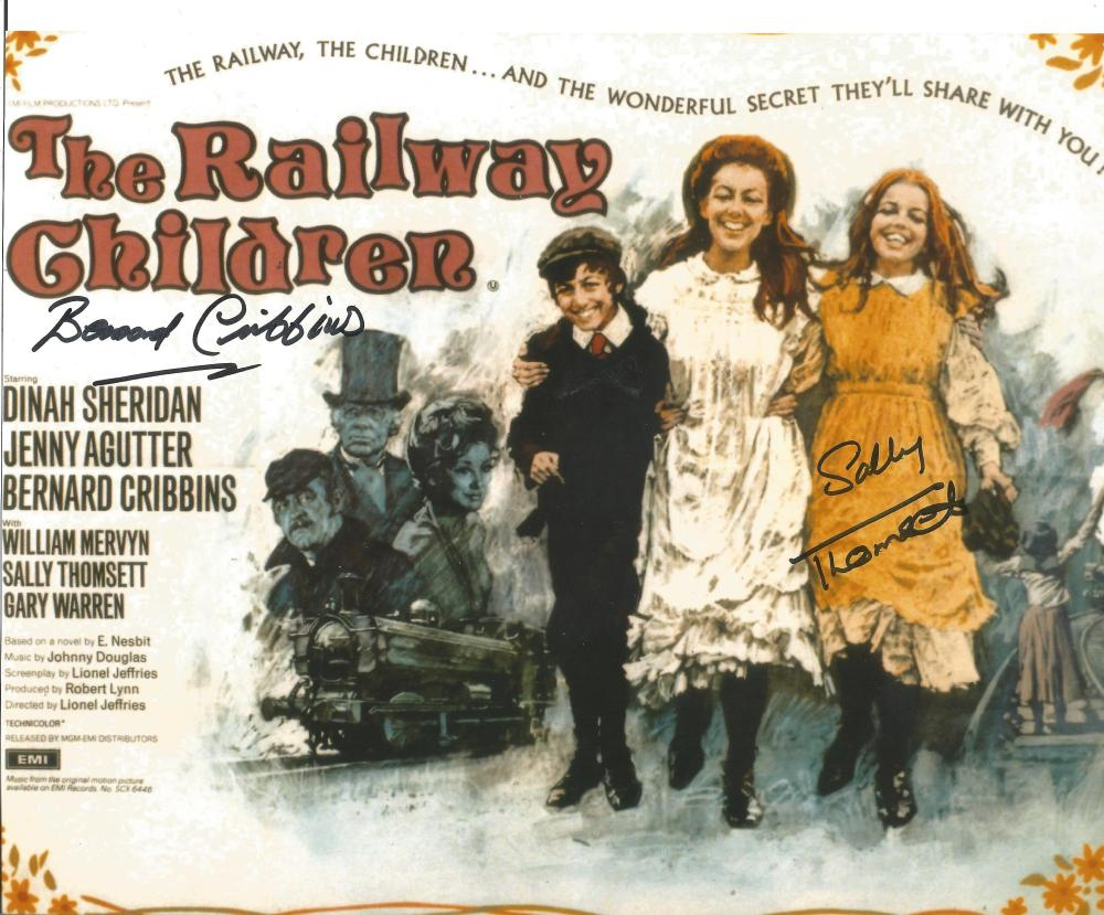 The Railway Children dual signed 10x8 photo. This beautiful hand signed photo depicts the movie