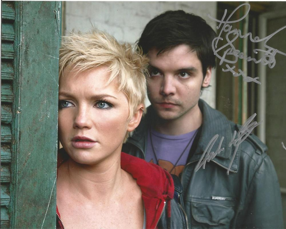 Hannah Spearritt Andrew Lee Potts Primeval hand signed 10x8 photo. This beautiful hand-signed
