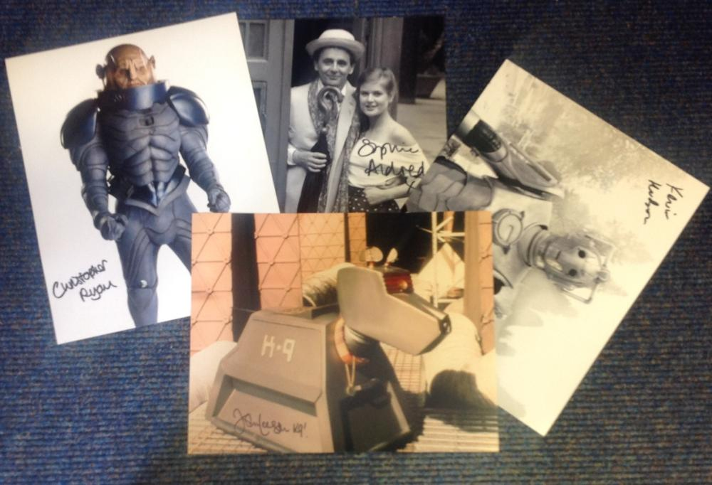 Lot of 4 Dr. Who hand signed 10x8 photos. This beautiful set of 4 hand-signed photos are signed by
