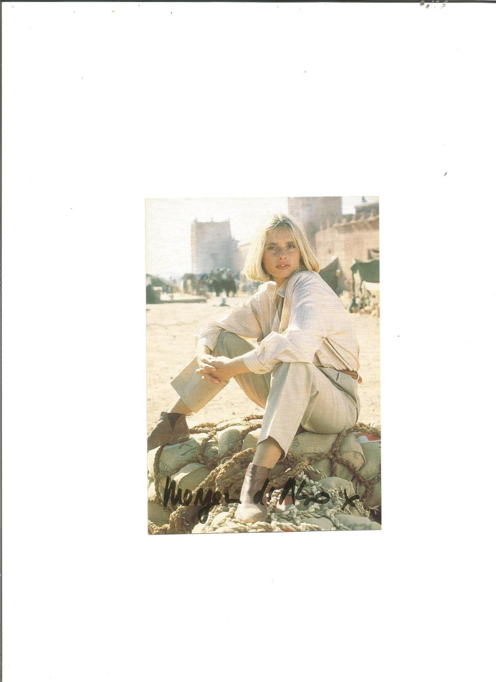 Maryam D'Abo signed 6x4 colour photo from Living Daylights. Good Condition. All signed pieces come