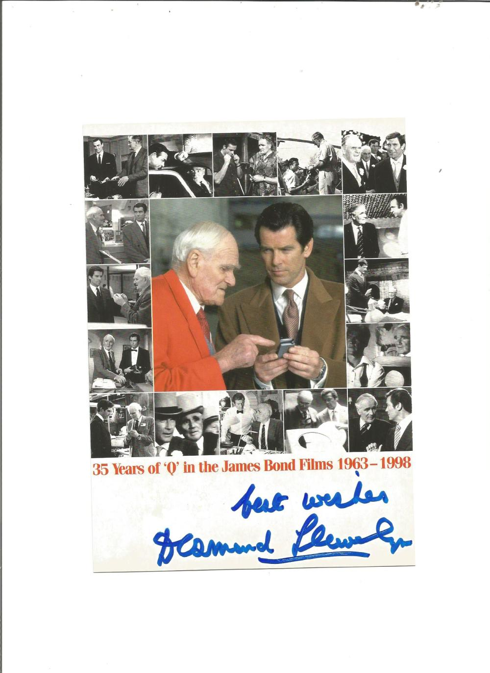 Desmond Llewellyn signed 8x6 montage photo. Good Condition. All signed pieces come with a