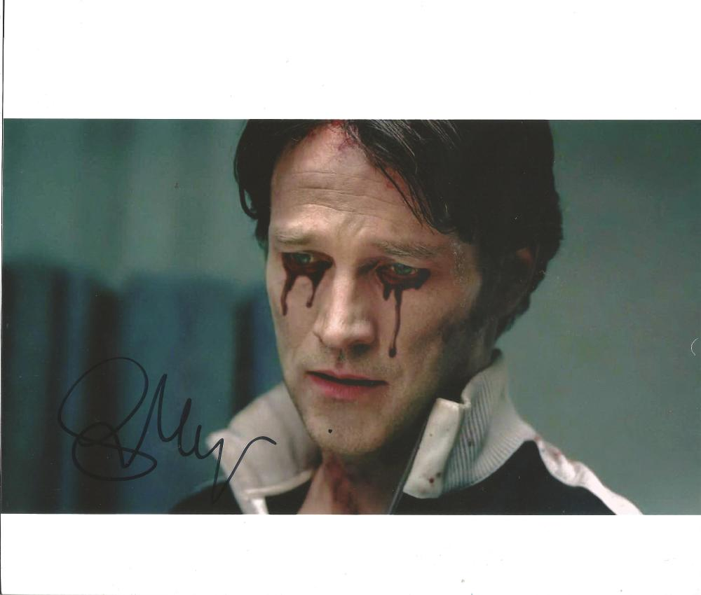 Stephen Moyer True Blood hand signed 10x8 photo. This beautiful hand signed photo depicts Stephen