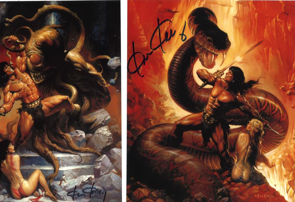 Lot of 3 Ken Kelly Fantasy Artist hand signed 10x8 photos. This beautiful set of 3 photos are hand-