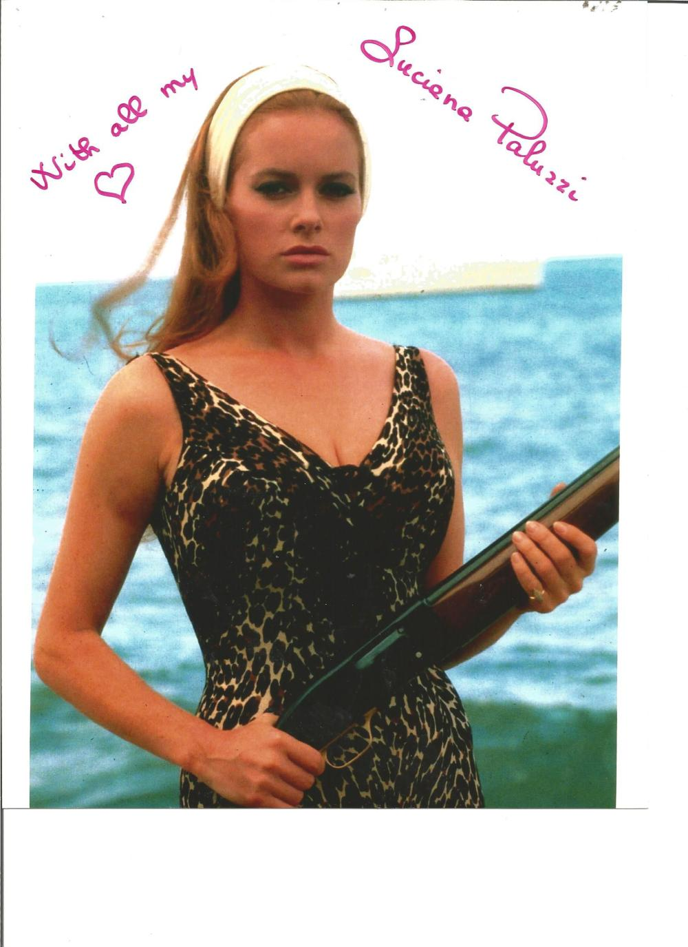 Luciana Paluzzi signed 10x8 colour photo from Thunderball. Good Condition. All signed pieces come