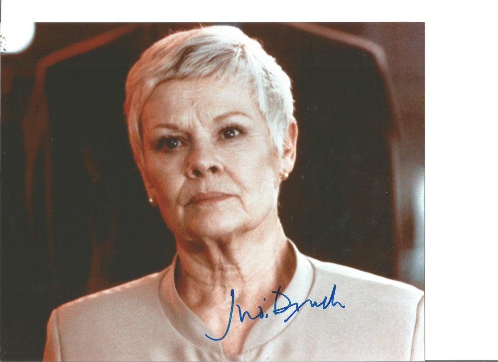 Dame Judi Dench signed 10x8 colour photo. Good Condition. All signed pieces come with a