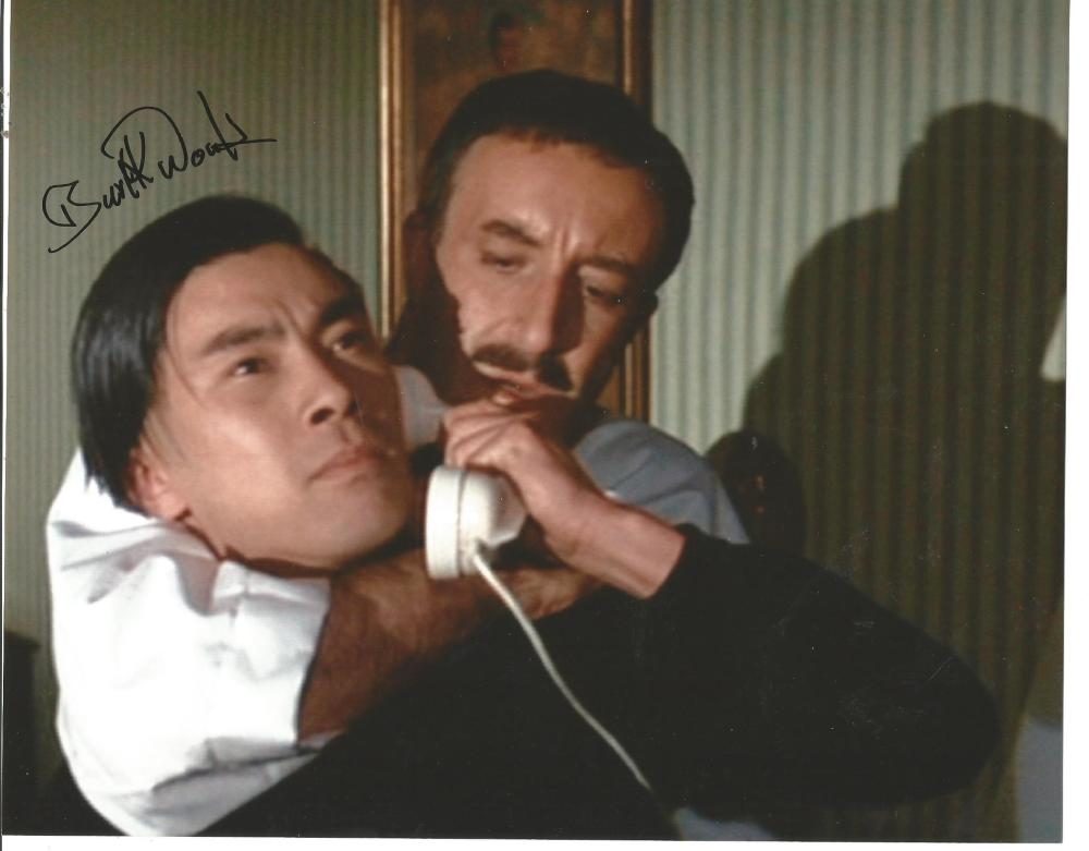 Burt Kwouk signed 10x8 colour photo as Cato in Pink Panther. Good Condition. All signed pieces